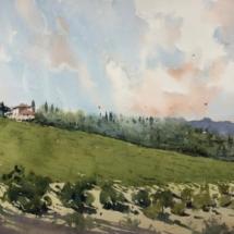 18 - Couleurs d'automne en Toscane Format 54 x 24,5 cm