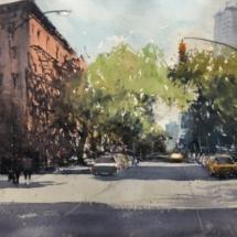 3 - Rues ombragés de Nen York Format 47,5 x 33,5 cm